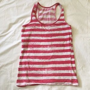 Rue21 pink and white striped tank